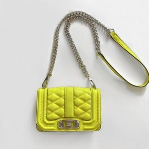 Rebecca Minkoff Yellow Quilted Chevron Bag